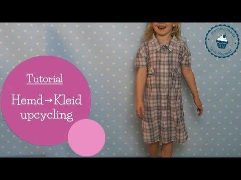 Kleid aus Hemd nähen | Upcycling | recycling | DIY Nähanleitung | mommymade