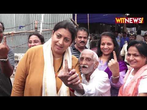 Smriti Irani And Shreyas Talpade Cast Their Vote in Mumbai | Maharashtra Assembly Polls