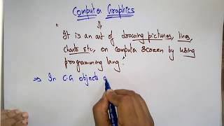 computer graphics tutorial | Introduction | Lec-1 | Bhanu Priya