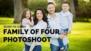 Family Of Four Photo Session, Posing Ideas, BTS With Sacramento Photographer Svitlana Vronska