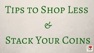 Tips to shop less