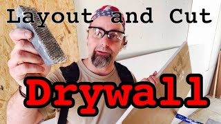 Drywall layout, cut, and fit