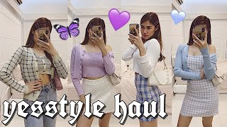💜 $250 YESSTYLE TRY ON HAUL 2020 || Asian Fashion Blackpink Inspired