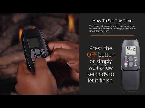 How to pair your electronic remote and gas log set