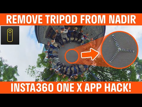 How To Remove Tripod From 360 Video Using Insta360 ONE X App