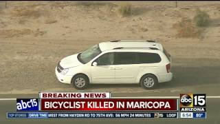 Bicyclist killed in Maricopa crash