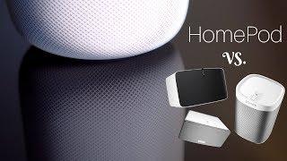 Apple HomePod Test | deutsch - vs. Sonos Play:1, Play:3, Play:5