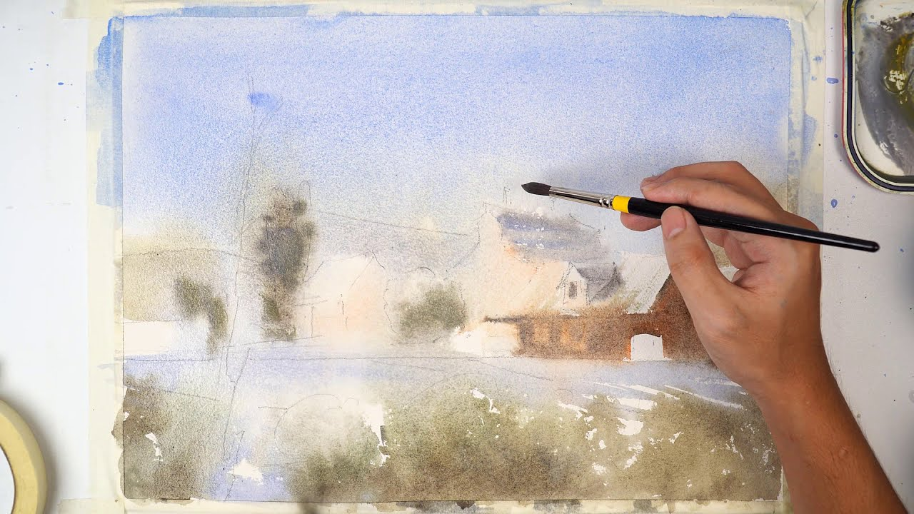 How To draw House Watercolor