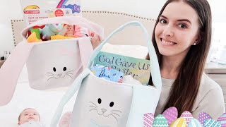 WHATS IN MY KIDS EASTER BASKETS 2020 | NEWBORN + TODDLER EASTER BASKET IDEAS