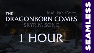 Skyrim: The Dragonborn Comes (Malukah Cover)【1 HOUR】Seamless Loop
