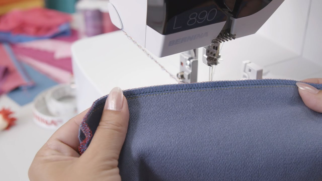Threading an Overlock Stitch in Guided Mode