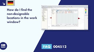 [DE] FAQ 004512 | How do I find the non-designable locations in the work window?
