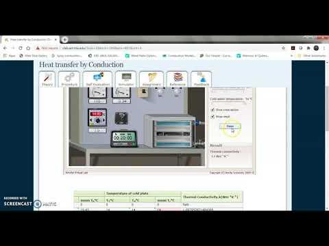 Virtual lab Experiment | Heat Transfer | E-course | GTU | 3151909