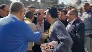 مشاجرة بين أفراد أمن نادي الزمالك وأحد الأعضاء أثناء سير العملية الانتخابية