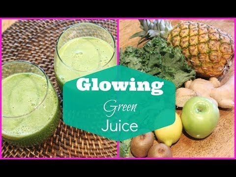 Video ♥ Green Juice Recipe for Weight Loss and Glowing Skin | Detox Green Juice ♥