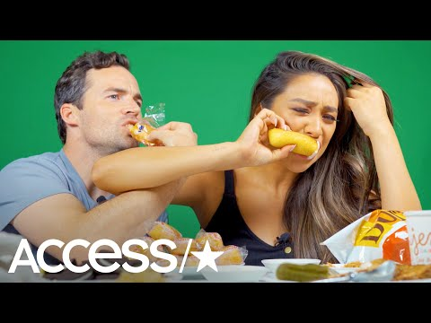 Shay Mitchell Mukbangs Pregnancy Foods With 'Pretty Little Liars' Co-Star Ian Harding