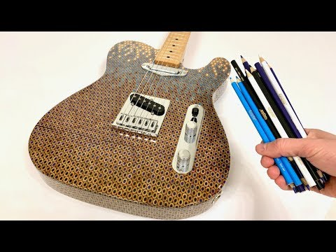 Build a Telecaster Guitar with Colored Pencils