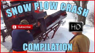 Snow Plow Crash Compilation - over 10 minutes