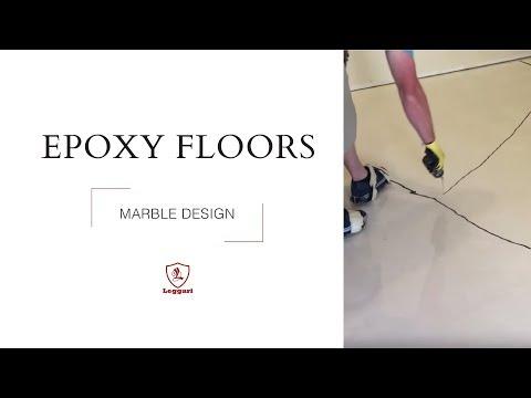 Marble Floor in Metallic Epoxy