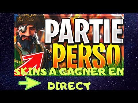 🔴LIVE FORTNITE🔴CADEAUX A GAGNER🎁PARTIE PERSO SANS LES BOTS ( ENFIN!!!!)🎮#PP