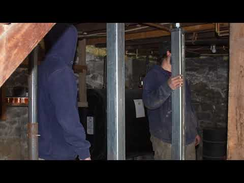 Repairing Sagging Floors in Barre, Vermont, by Matt Clark's Northern Basement Systems.