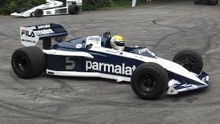 Brabham BT52 F1 Turbo In Action   BMW M1213 1.5L 4 Cylinder Engine Sound!