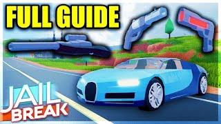Jailbreak SNIPER UPDATE (Full Guide) - Bugatti Chiron, Revolver, Plasma Pistol