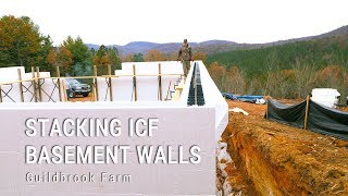 ICF Mountain Homestead Basement: Stacking FoxBlocks Insulated Concrete Forms