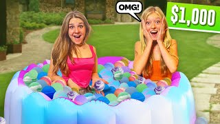 FILLING my pool with a THOUSAND Bath Bombs **LAST TO LEAVE Challenge**💦  Piper Rockelle