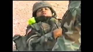 Русские солдаты выручают взорванный американский спецназ