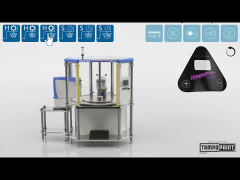 Video: Poloautomatický tamponový stroj - Module ONE M 1-3 barvy