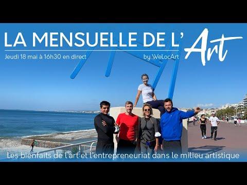 [La Mensuelle de l'Art] Les bienfaits de l'art et l'entrepreneuriat - Teaser No Finish Line à Nice