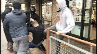 Tommy Robinson Ambushed And Attacked By ANTIFA