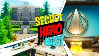 NEW FORTNITE MANSION - SECRET SUPER HERO BASE