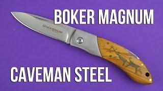 Boker Magnum Caveman Steel (01RY818) - відео 1