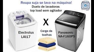 Duelo Lavadoras Electrolux LAI17 X Panasonic NA-F160P5 - Carga de toalhas