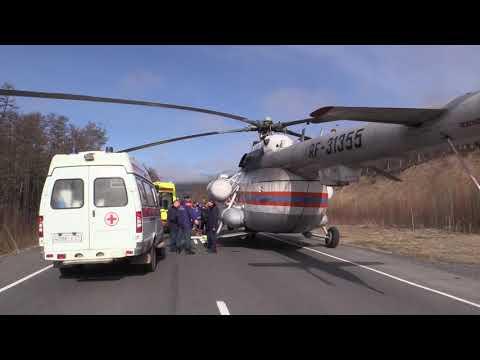 Спасатели завершили работу на месте дорожно-транспортного происшествия в Нанайском районе