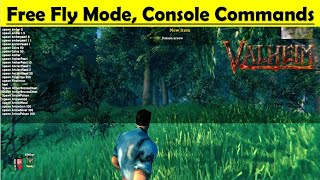 Valheim Unlimited Skills - Items - Free fly Console Commands - How to Use and Gameplay