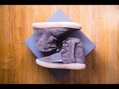 102782f4d0d4b Adidas yeezy boost 750 chocolate light brown gum review and on feet