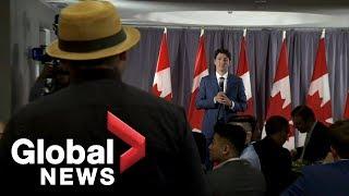 Indigenous pipeline protester confronts Trudeau, calls PM a 'weak leader'