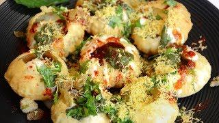 Dahi Golgappa | Dahi Puri Chaat | Indian Street Food Recipe
