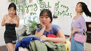 EXTREME CLOSET CLEANOUT (trying On ALL Of My Clothes)