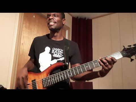 "Here i'm having fun playing a bass cover Of the vamp of Israel Houghton's ""It's Not Over""."