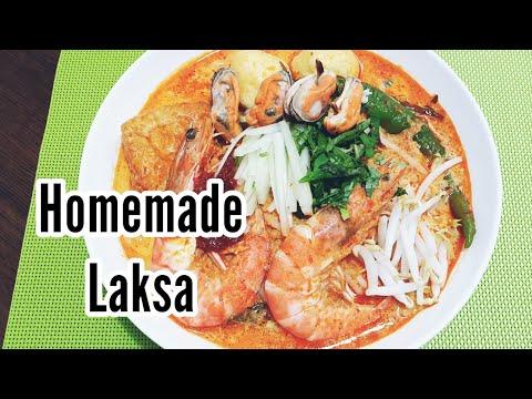 Singapore Laksa Recipe / Resepi Mee Laksa Singapore