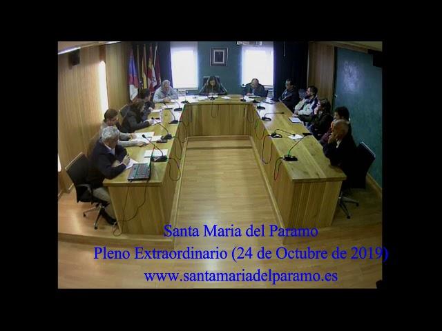 Pleno Extrordinario (24 de octubre 2019)