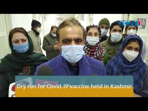 Dry run for Covid-19 vaccine held in Kashmir