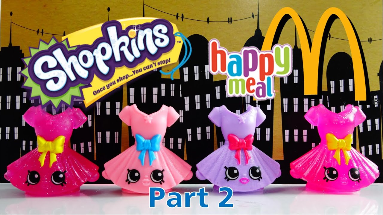 McDonalds Happy Meal Supersize Shopkins - Blind Bag Codes - McPlay App Part 1 | Evies Toy House