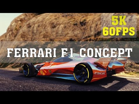 Grand Theft Auto V MODS - FERRARI F1 CONCEPT | GTA V Funny Moments | 4K 60FPS | ThirtyIR
