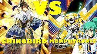 Real Life Yugioh - SHINOBIRD vs MORPHTRONIC | September 2017 Scrub League