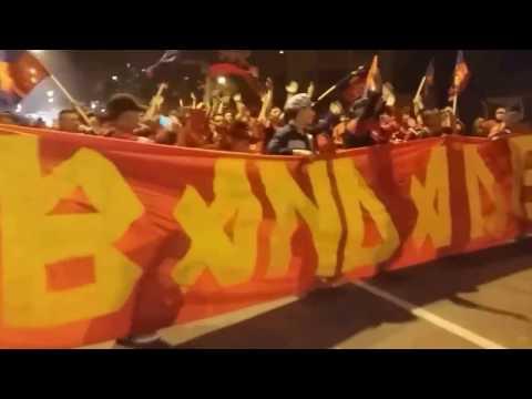 """""""Porra de Municipal en el #Clasico297"""" Barra: La Banda del Rojo • Club: Municipal"""